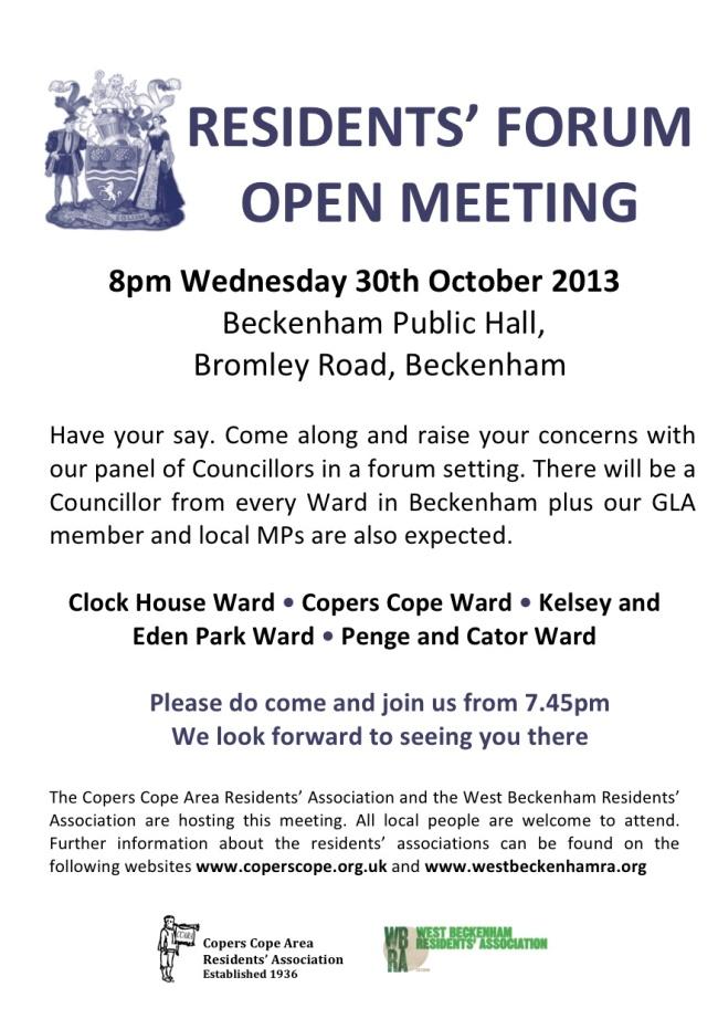 2013 Beckenham Residents Meeting