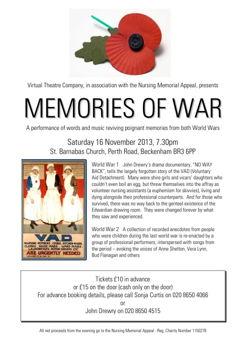 MEMORIES OF WAR flyer