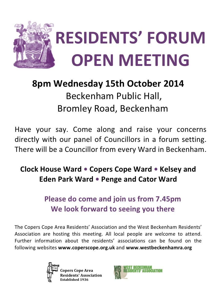2014 Beckenham Residents Meeting